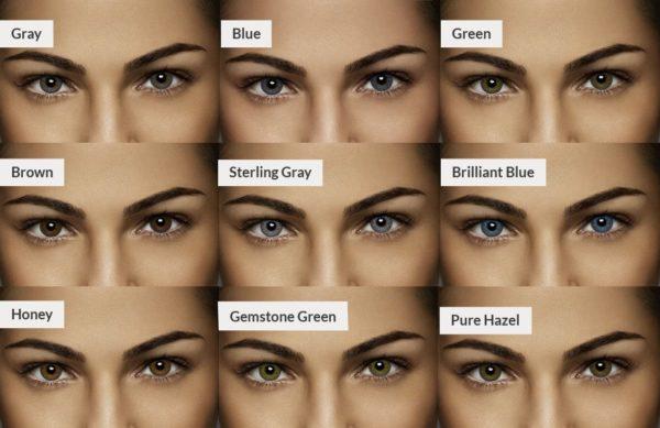 Air Optix Color Chart des couleures